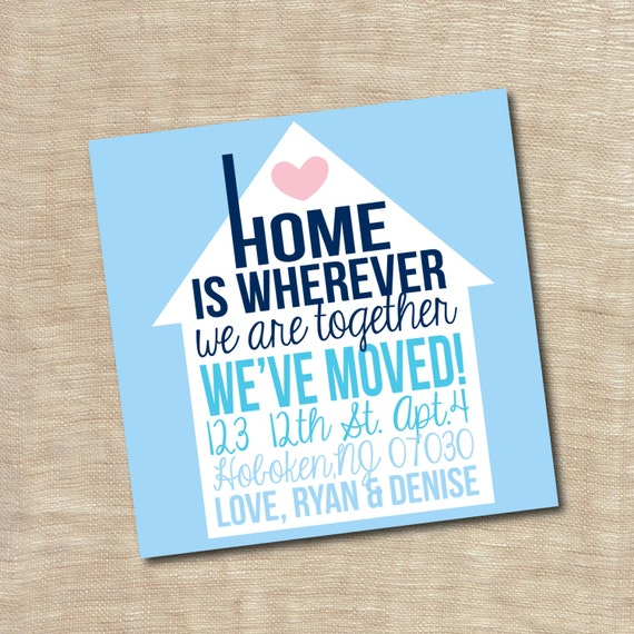 Housewarming Party Invitation New Home We Moved Announcement