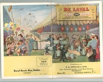 Dairy Farming, 1949  De Laval Separator Almanac De Laval Handy Reference Year Book Weather Predicitons Cows & Milk Production Advertising