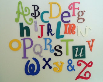 "Sale! Wooden Alphabet Letter Set - 5"" to 10"" letters- ALphabet Wall decor- Hanging wall Letters-Nursery Letters-Alphabet letters"