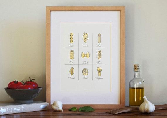 Pasta Letterpress Art Print