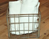 Vintage Industrial CHiC Galvanized metal Milk Crate