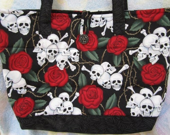 Tote Bag - Skulls and Roses