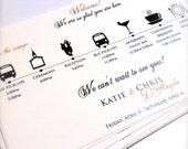 Wedding Itinerary Cards, Wedding Timeline, Weddings, Wedding Outline