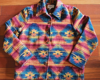 80s aztec southwestern blazer jacket - small/medium