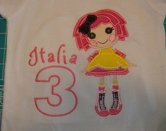 Lala Doll appliqued Shirt Birthday