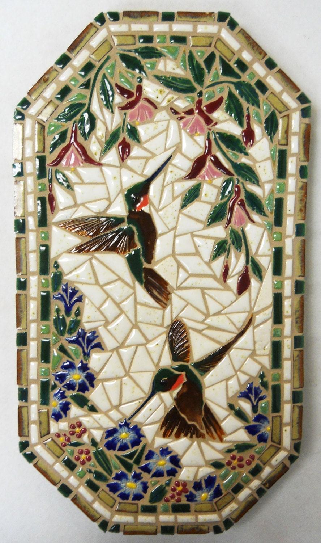 mosaic wall art handmade ceramic tile by houseofwhisperingfir. Black Bedroom Furniture Sets. Home Design Ideas