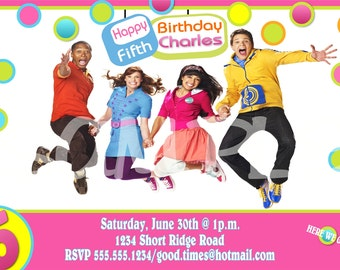 """The Fresh Beat Band (New Marina) Birthday Invitation or Thank You note, Personalized, Custom -DIY """"Unlimited"""" Printing"""