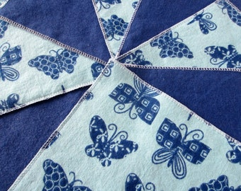IMPERFECT: Diaper Wipes/Flannel Wash Cloths/Cloth Diaper Wipes for Baby, Butterflies (10)