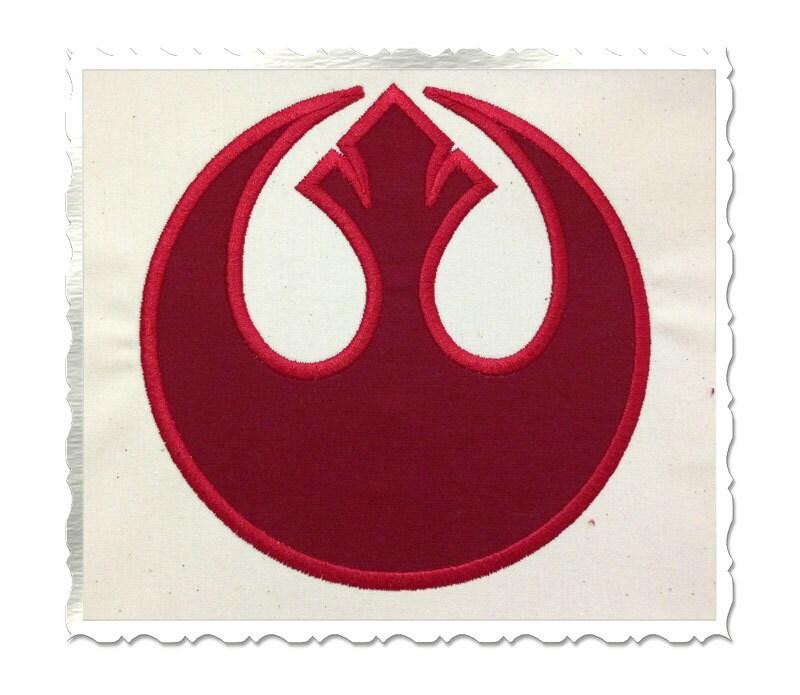 Star Wars Rebel Alliance Applique Machine Embroidery Design
