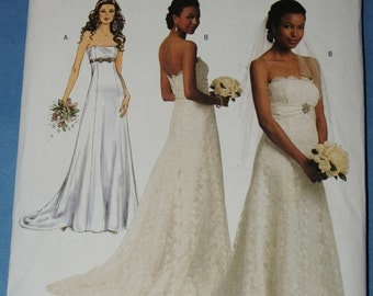 New Butterick  Wedding Gown Sewing Pattern B5325 E5 size 14 to 22