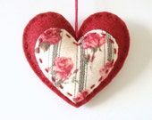 Valentines Day Decor Heart Felt Ornament Love Made to Order