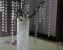 """10pcs/lot crystal tree14"""" artificial statue branch for wedding centerpieces with Acrylic crystal strand Garland"""