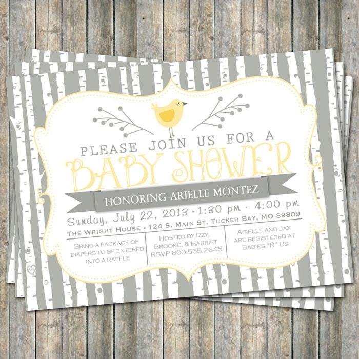 bird baby shower invitation typography baby shower invitation