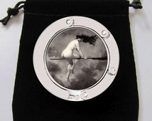 Witch on Broom Risque Nude Gothic Purse Hook Bag Holder Trendy Cool