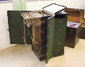 Antique Wardrobe Steamer Trunk Original W.W. Winship & Sons Co of Utica NY with Hangers and Drawers - Treasury Item