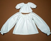 18 Inch Doll Clothes Peasant Top Blouse Long Sleeve White 15 inch Doll Clothes