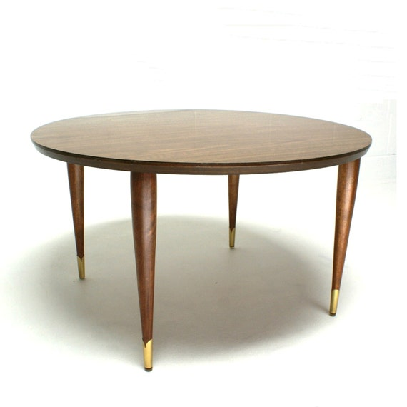 Vintage Mid Century Modern Small Coffee Table Cocktail: VINTAGE 50s 60s Mid Century Danish Modern Peg Leg By