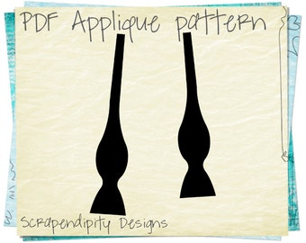 Bow Tie Applique Template - Untied Bow Tie Applique Pattern / Children Shirt Design / Baby Clothing Pattern / DIY Iron on Transfer AP95-D