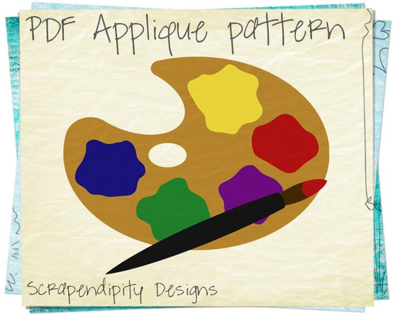 Painting Applique Template - Art Applique Pattern / Painter Shirt / Kids Boys Clothing Tops / Womens Art Tshirt / Toddler Clothes AP195-D