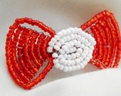Red Hair Bow - Victorian (Small)