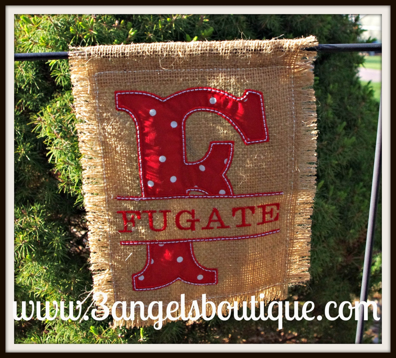 Personalized Mini Burlap Garden Flag Perfect For A Plant Stake