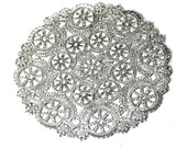 25 Silver 8 inch paper doilies, metallic doily, invitation trim, wedding decoration, party decoration, paper craft trim
