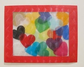 Kids Craft Kit, Color Theory Craft, Class Pack of 12, Heart Suncatcher Art Craft Kit, Kids, Children, Toddlers, Preschool, party, mess free