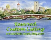 Reserved Original Watercolor Art Painting Custom Ordered Composition Inspired by Customer Supplied Digital Artwork by Erica Dale Strzepek