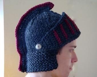 USC Trojan Hat - Knight Helmet Beanie - Gladiator Trojan Spartan Mohawk Hat - Handmade Knit Hat