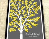 Wedding Guest Tree - The Dreamwik - A Peachwik Interactive Art Print - 200 guest sign in - Chevron Patterned Wedding Dream Tree