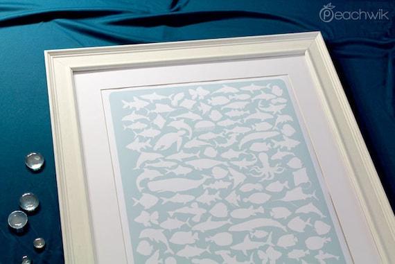 Guest Book Alternative - The Beachwik - A Peachwik Interactive Art Print - 100 guest sign in - Destination, Beach & Ocean Weddings