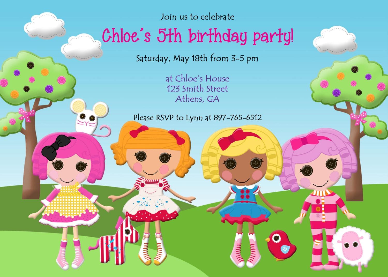 Lalaloopsy Birthday Party Invite Doll Party Invitation – Lalaloopsy Birthday Invitation
