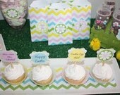 PRINTABLE Toppers -  Easter Chevron Collection - BellaGrey Designs