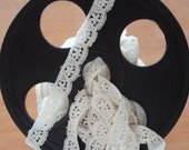 "Venice Lace Embroidery Trim In Off White Color 1/2"" Wide."