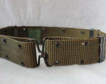Vintage US Military Issue Canvas Utility Belt - Medium