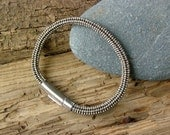 Beaded Bracelet For Men in Silver Tones, Highend Bracelet, Silver Bracelet For Guys, Beaded Jewelry by ariearts