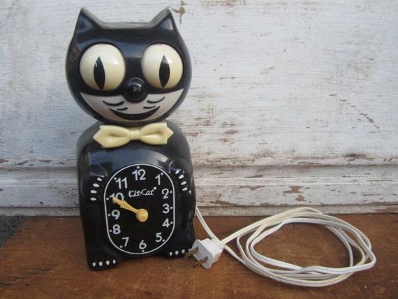 Kit Cat Klock Felix Wall Moving Black Cat Clock