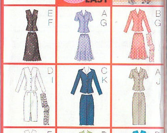 Butterick 3037 Sewing Pattern Jacket Skirt Patterns Size 14-16-18 Nine Sew Easy