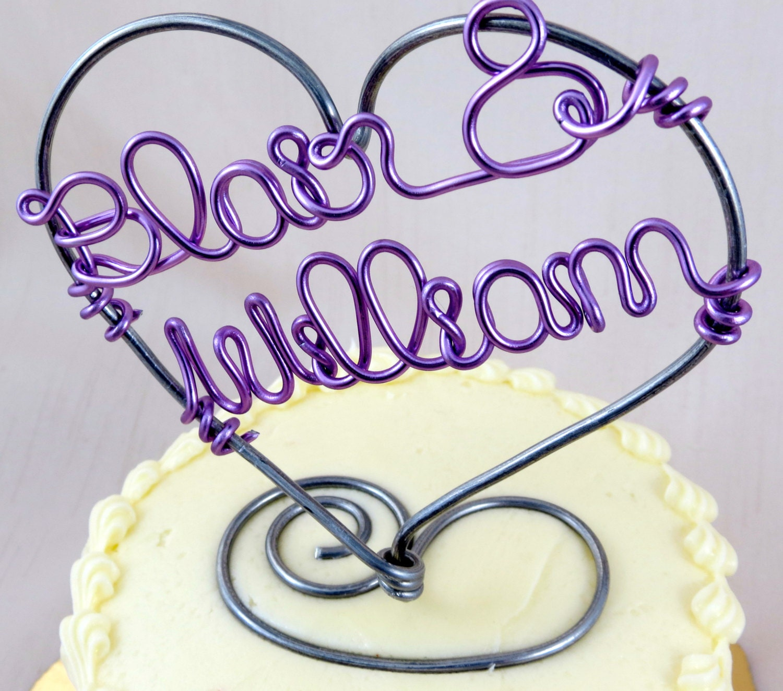 Custom Name Cake Topper Wedding Cake Topper Bridal by