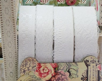 Adhesive Natural  Lace Fabric Roll Tape