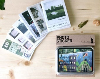 Mini Polaroid Scene Of Newyork Photo Sticker(50 sheets, 165 pcs)