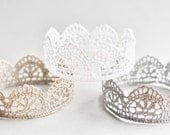 Vintage Lace Crown,Larger Size,Toddler to Adult, Photo Prop, You Choose Color,Lace Crown, Boy or Girl, Newborn Photo Prop, Unisex
