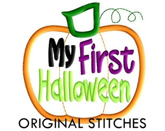 My First Halloween Applique and Embroidery Digital Design File 4x4 5x7