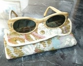 Womens Sunglasses Victory Woodgrain Women's 1960's Vintage Fashion