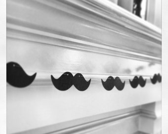 Mustache Garland Banner - Photo Booth Banner - 6 foot garland, great for parties, weddings, photo booths