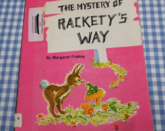 SALE the mystery of rackety's way, vintage 1969 children's book
