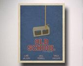 Old School Inspired Minimalist Movie Poster / Man Cave / Wall Art / Movie Room / Dorm Room Decor