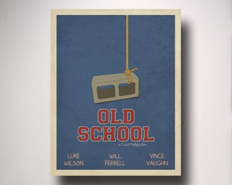 Old School Inspired Minimalist Movie Poster / Man Cave / Wall Art / Movie Room / Dorm Room Decor