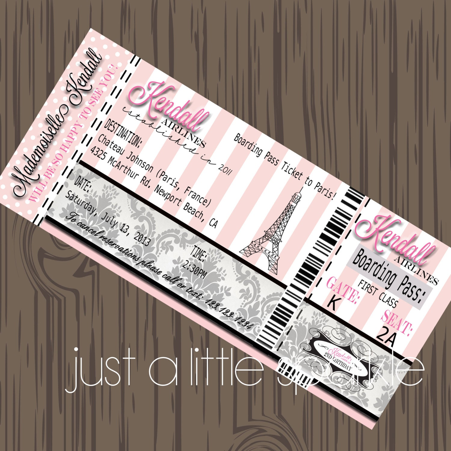 Baby Shower Boarding Pass Invitations as luxury invitation layout