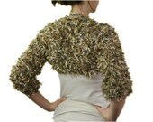 Knit Shrug in Shades of Brown - Earth Tones Bolero - Sweater - Spring Fall Winter Fashion - Women Teens Accessories
